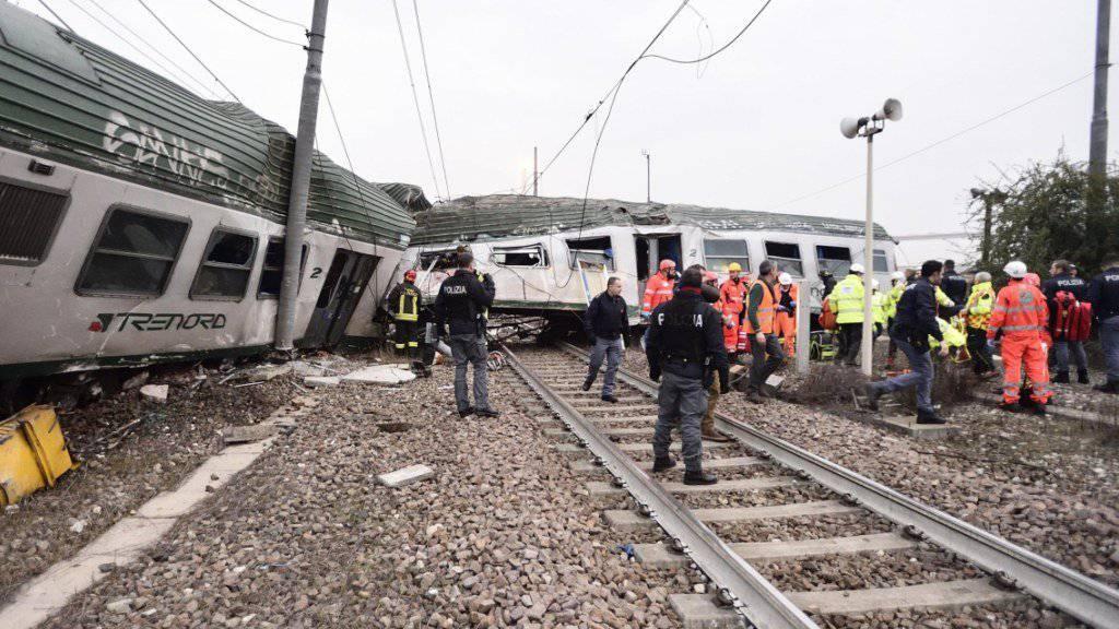 Zwei Tote bei Zugentgleisung bei Mailand