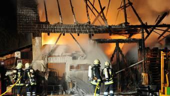 Beinwil SO: Scheune durch Brand komplett zerstört