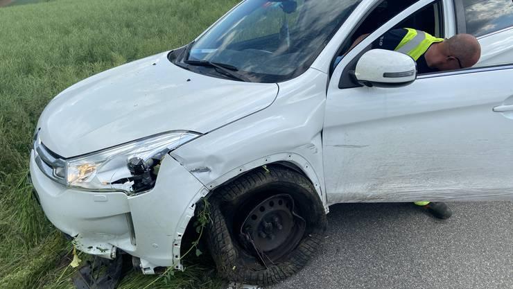 In diesem weissen Citroen sass der Unfallverursacher.