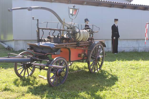Feuerwehrgerät von anno dazumal wurde an der Sichlete ausgestellt