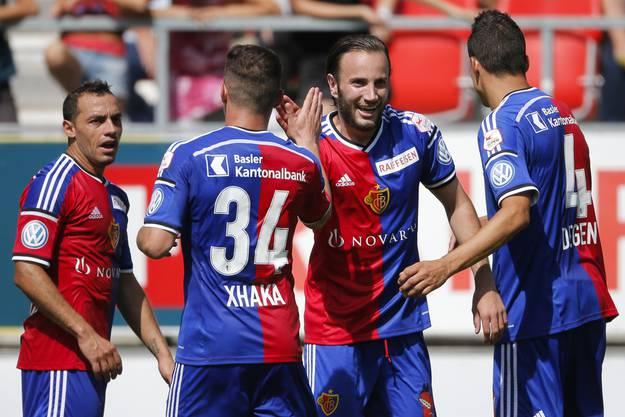 Der FC Basel gewinnt mit 3:2 gegen den FC Sion.