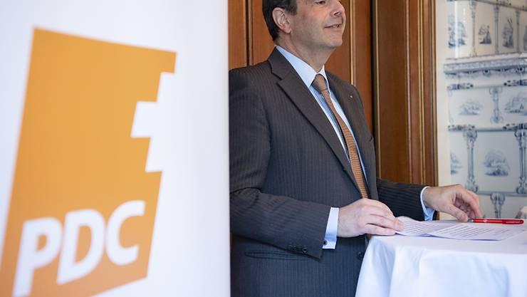 CVP-Präsident Gerhard Pfister hat an der Delegiertenversammlung seiner Partei in Zürich für den Zusammenhalt plädiert. (Archivbild)
