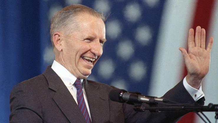 Ross Perot, einstiger Präsidentschaftskandidat in den USA, ist 89-jährig gestorben. (Archivbild)