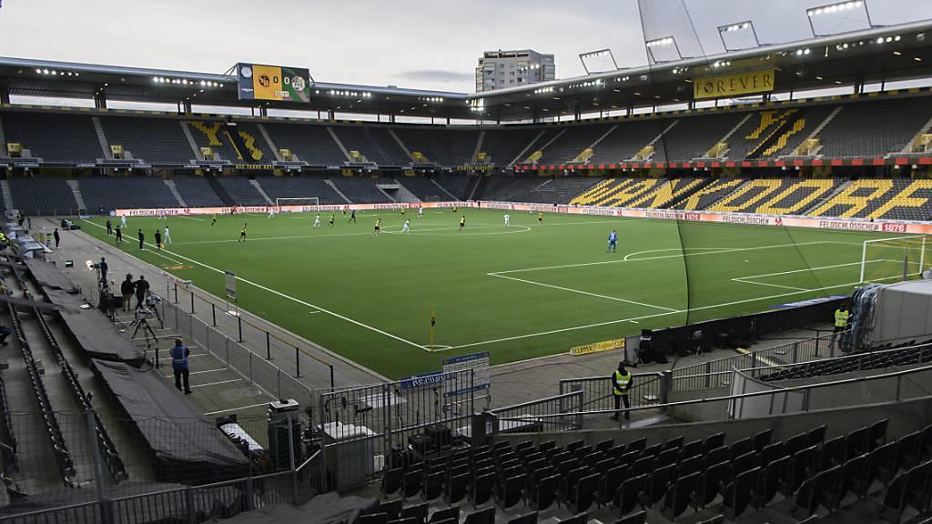 Leere Stadien und Partien ohne Zuschauer wie im Bild im Wankdorf in Bern werden auch die nahe Zukunft prägen