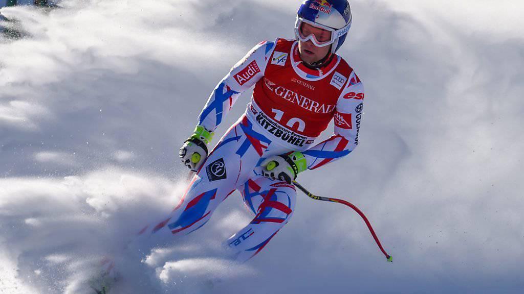 Alexis Pinturault gewinnt die Kombination in Kitzbühel zum dritten Mal hintereinander