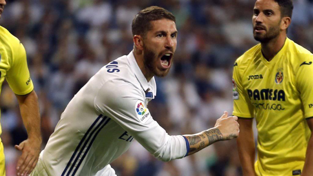 Sergio Ramos (Mitte) erzielte nach 48 Minuten der 1:1-Ausgleich