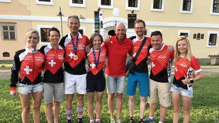 Die «Swiss Delegation», die an der EM in Rumänien ganze vier Medaillen eingefahren hat.