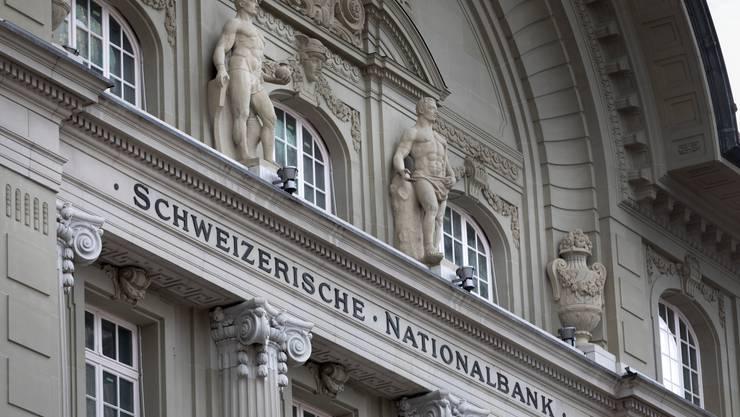 Die Fassade der Schweizerischen Nationalbank SNB am Bundesplatz in Bern,. aufgenommen am 12. Maerz 2018. (KEYSTONE/Gaetan Bally)