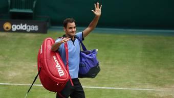 Roger Federer steht in Halle im Halbfinal.
