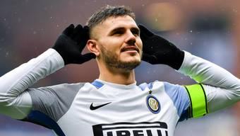 Mauro Icardi war der grosse Mann beim Sieg von Inter Mailand bei Sampdoria Genua