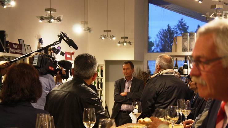FDP Parteipräsident Philipp Müller und das Westschweizer Fernsehen