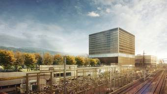 Die neuen Leistungsaufträge für die Fachhochschule Nordwestschweiz wurden verabschiedet. Im Bild: die Visualisierung des FHNW-Neubaus in Muttenz.
