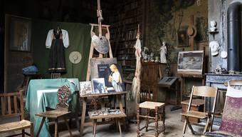 Das Atelier des 1910 verstorbenen Schweizer Malers Albert Anker im Albert Anker-Haus in Ins.