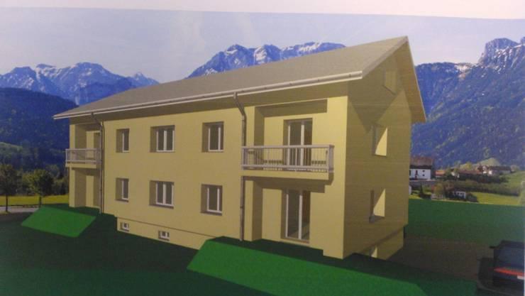 Das Bild stammt aus einem Baugesuch das der Gemeinde eingereicht wurde.