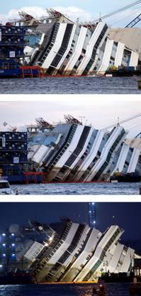 Das Schiff hat sich am Tag nur langsam aus den Fluten gehoben