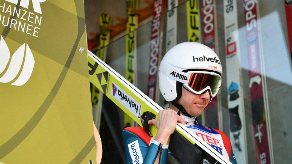 Für Simon Ammann setzte es auch in Innsbruck eine grosse Enttäuschung ab