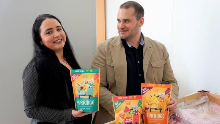 Sabrina Coppe und Pascal Wälti haben die Firma Colti GmbH gegründet und vertreiben ihr selbst kreiertes Porridge-Produkt.