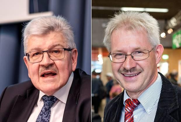Finanzdirektor Roland Brogli und Gewerbevereinspräsident Kurt Schmid.