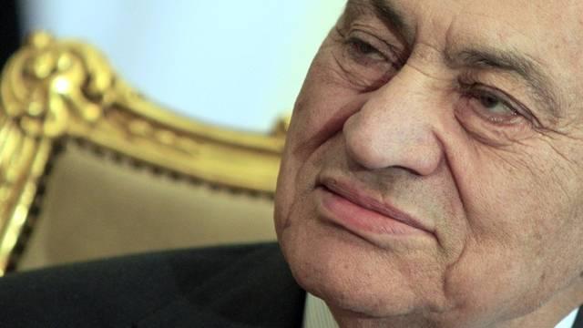 """Husni Mubarak beklagt eine """"ungerechte Kampagne"""" (Archiv)"""