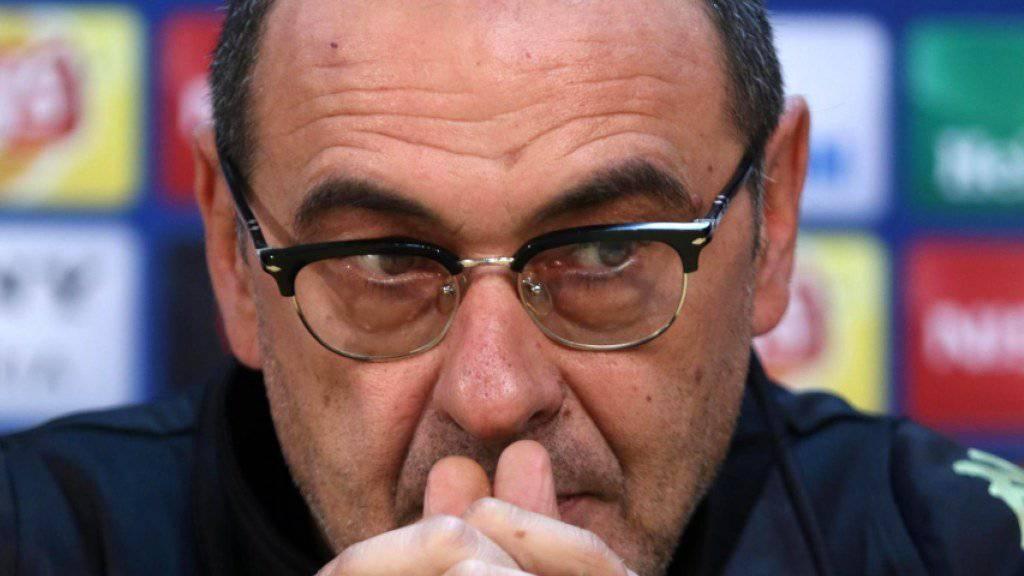 Maurizio Sarri ist heute Abend gefordert