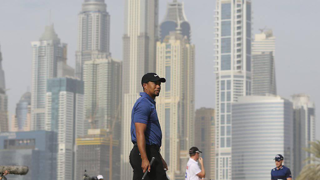 Tiger Woods droht am Turnier in Dubai wie schon in der Vorwoche in San Diego das vorzeitige Ausscheiden