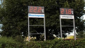 Die Löcher, die unter den Temperaturanzeigen klaffen, bleiben vorerst.