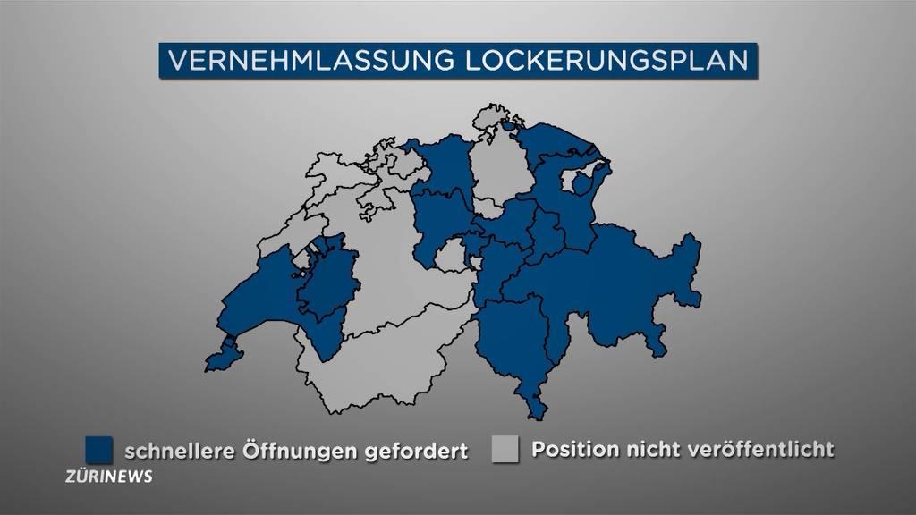 Kantone fordern Lockerungen: Gibt der Bundesrat nach?