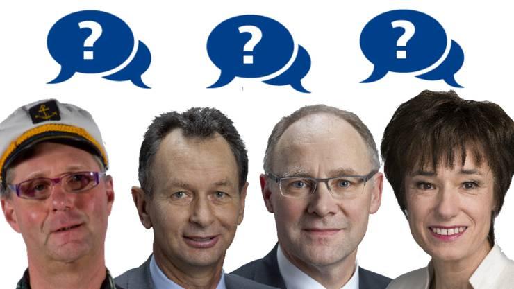 Wer hat was gesagt? Pius Lischer, Philipp Müller, Hansjörg Knecht oder doch etwa Ruth Humbel?