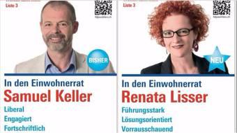 """Samuel Keller ist """"fortschriftlich"""" und Renata Lisser """"vorrausschauend""""."""