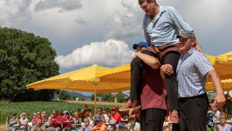 Erster Munimatt-Festsieger bei den Aktiven 2019, Kranzer Kropf Marcel, SK-Mümliswil
