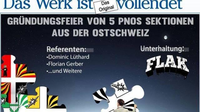 Eine Woche nach dem Neonazi-Konzert in Unterwasser findet im Kanton St.Gallen erneut ein Treffen Rechtsextremer statt.