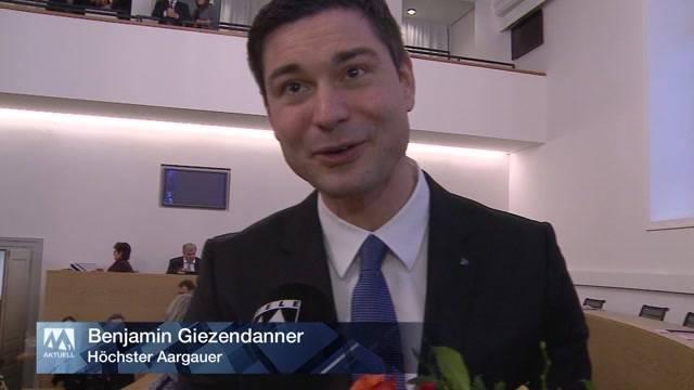 Benjamin Giezendanner neuer Grossratspräsident
