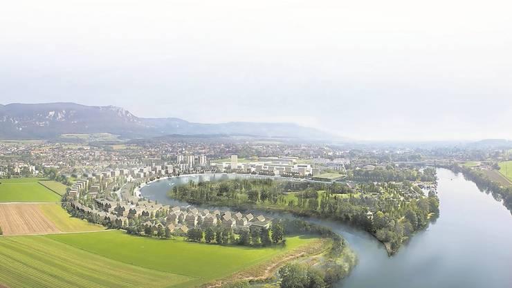 Der Kanton unterstützt die geplante «Wasserstadt» in Solothurn als «Siedlungsgebiet von übergeordneter Bedeutung».zvg