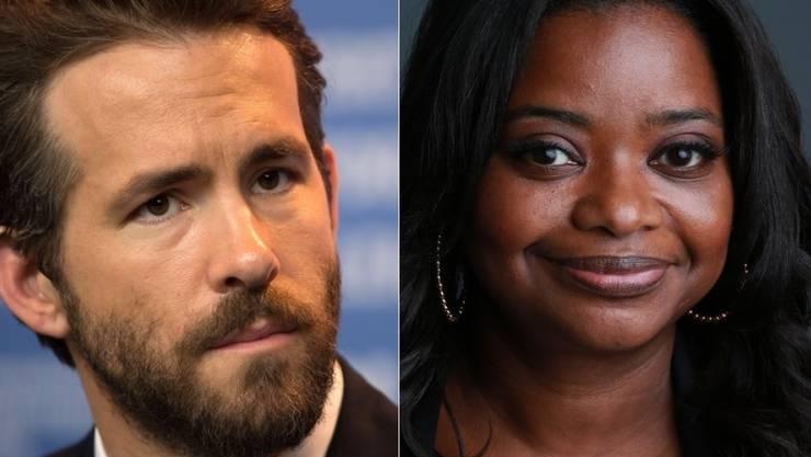 """Octavia Spencer und Ryan Reynolds erhalten heuer den """"Hasty Pudding"""". (Archivbilder)"""