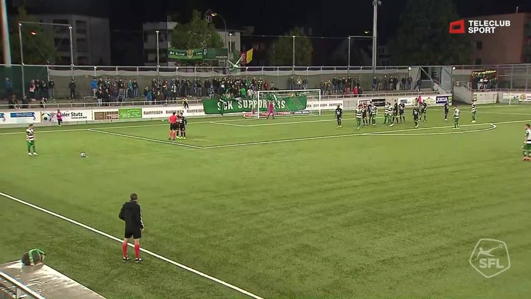 Challenge League 2019/20, 10. Runde: SC Kriens - FC Aarau, 80. Minute