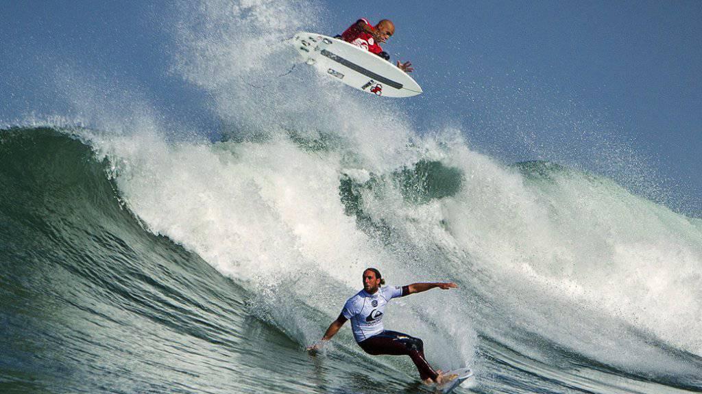 Bilder aus besseren Tagen: Ein Quiksilver-Surfer-Wettbewerb in Frankreich (Archiv)