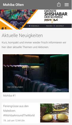 Die grösste Shisha Bar Oltens hat auch eine eigene App.