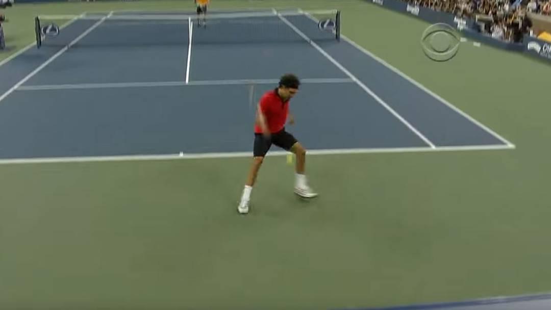 Roger Federer Tweener im US-Open-Final 2009 gegen Novak Djokovic