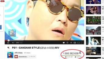 Über eine Milliarde Mal wurde der «Gangnam Style» angeklickt.