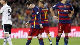 Hängende Köpfe beim FC Barcelona nach der dritten Niederlage in Folge