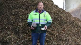 Ärgert sich über Kunststoff im Grüngut: Martin Leuenberger, Vergärfachmann bei der Laufenburger Leureko AG.