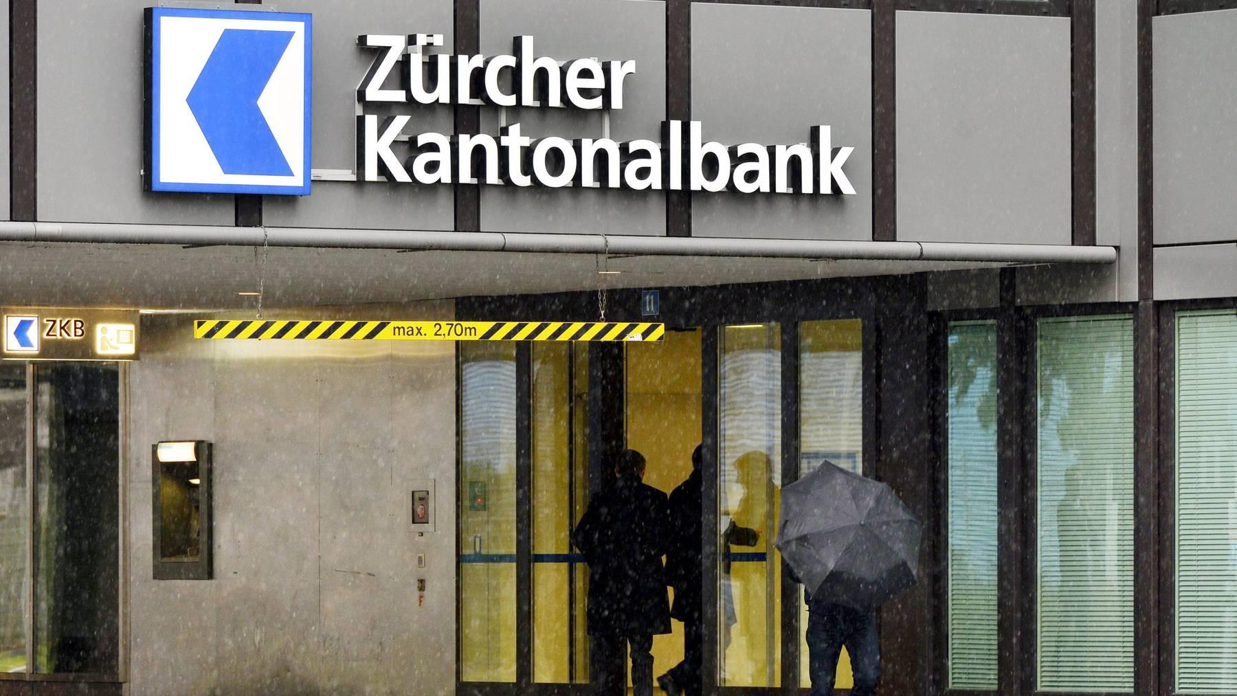 Will mit weiteren Überbrückungskrediten KMU finanziell unter die Arme greifen: Die Zürcher Kantonalbank.