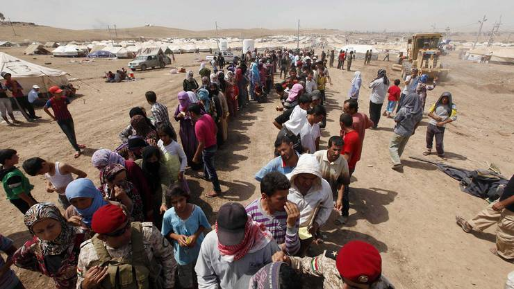 Syrer auf der Flucht.