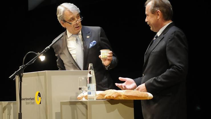 Der alte Präsident Werner Schmid und der neue Marcel Schweizer