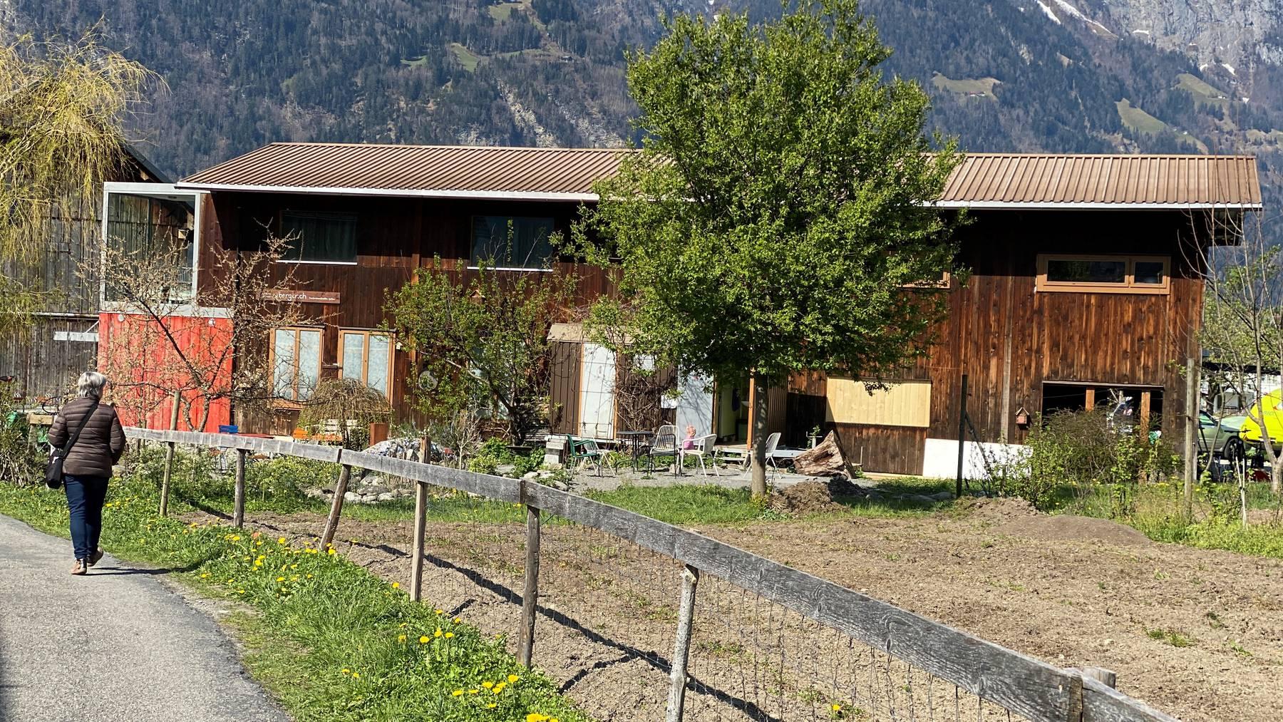 Der Bauernhof ByHerger war der Treffpunkt für die Coronademonstranten am Samstag.