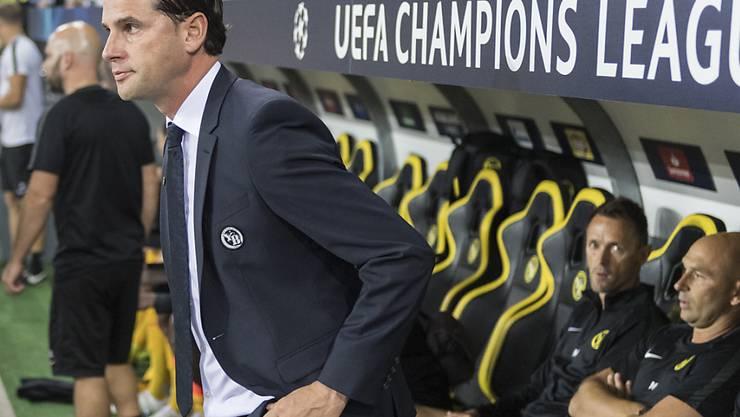 Trainer Gerardo Seoane steht heute in Zagreb vor seinem wichtigsten Spiel als neuer YB-Trainer