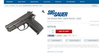 Diese Schweizer Dienstwaffe tauchte in einem US-Onlineshop auf.