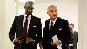 Im Mittelpunkt der Debatte: Tidjane Thiam (links) und Urs Rohner.