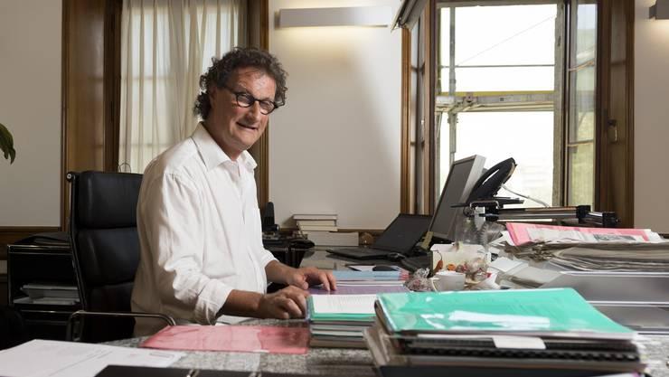 Geri Müller nimmt am Montag wieder seine Arbeit auf - und leitet eine Sitzung, in der seine Ressorts neu verteilt werden.
