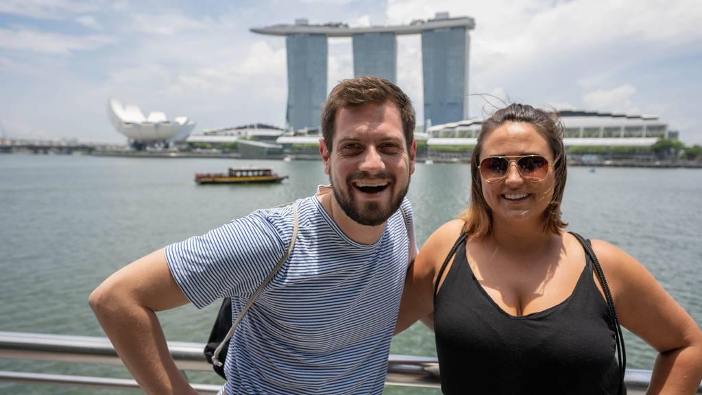 Das war der Ufsteller live aus Singapur